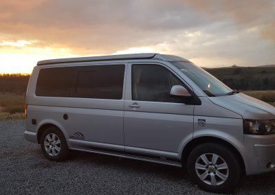 Sunset in West Yorkshire - ultramarathon support vehicle!