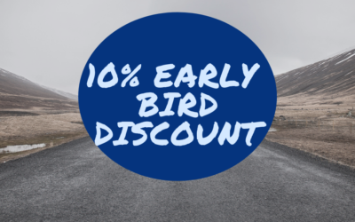 Special Early Bird Booking Discount – 10% off van hire