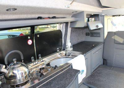 Wirral Campervan Hire - kitchen