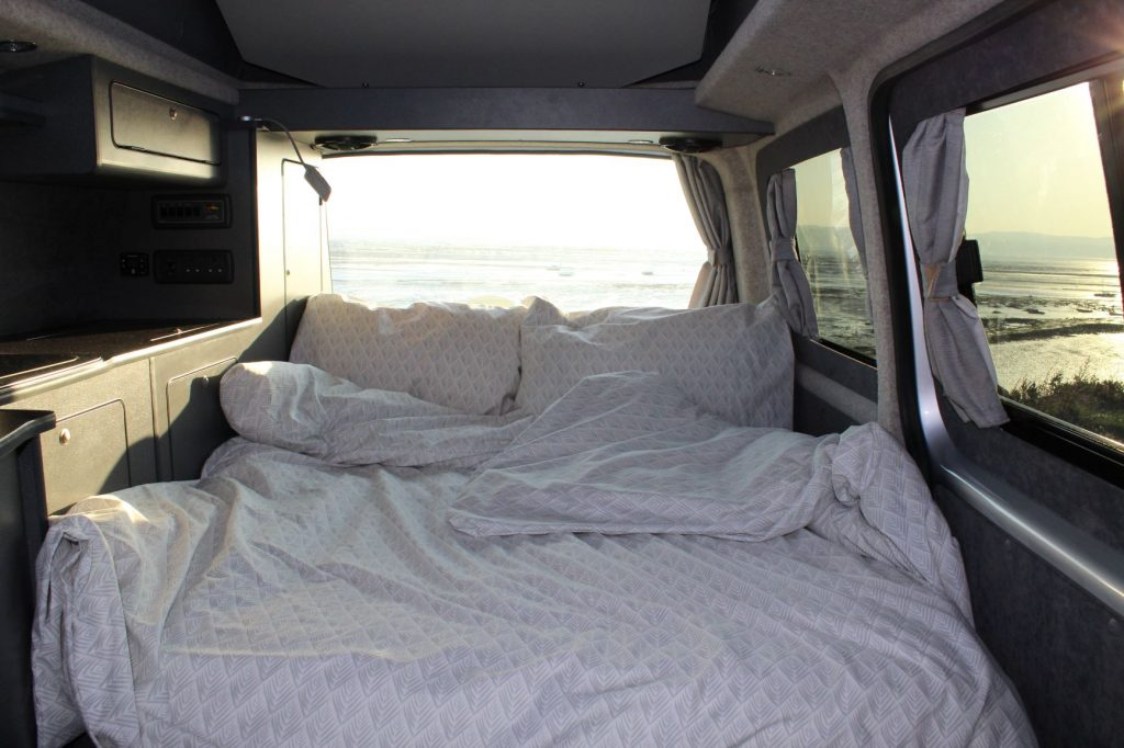 Bed in campervan